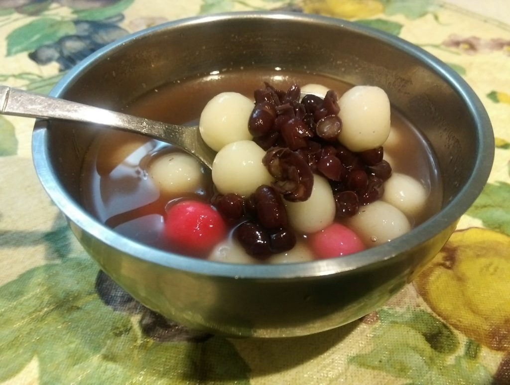 無落葉劑紅豆湯圓