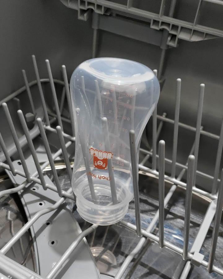 奶瓶放洗碗機的擺法